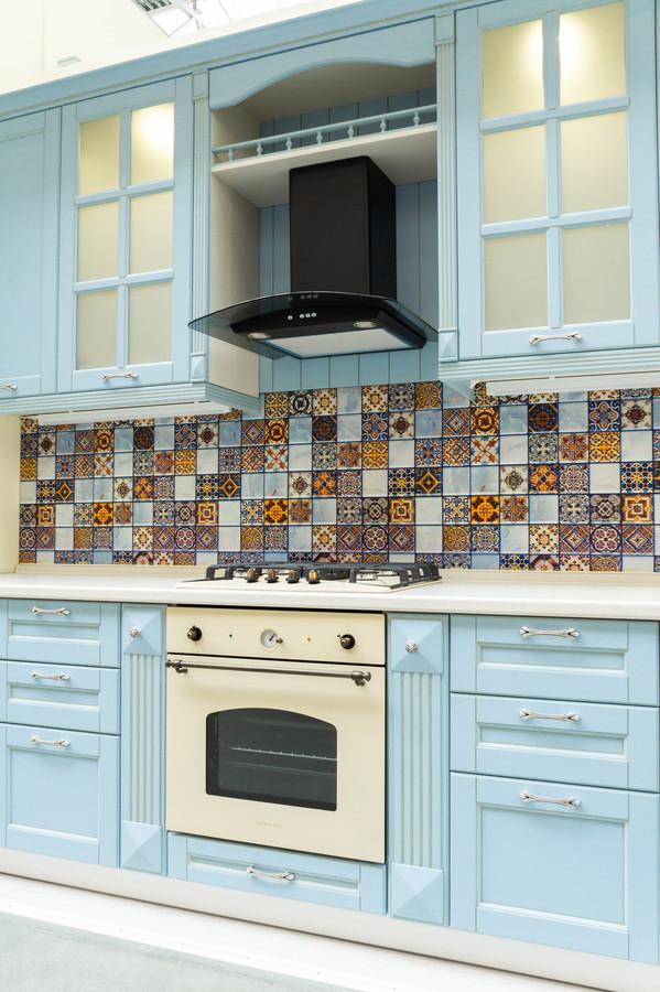 Встроенная кухня-Кухня МДФ в ПВХ «Модель 54»-фото3