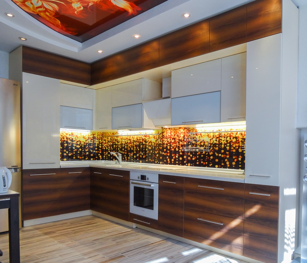 Акриловые кухни-Кухня из акрила «Модель 299»-фото1