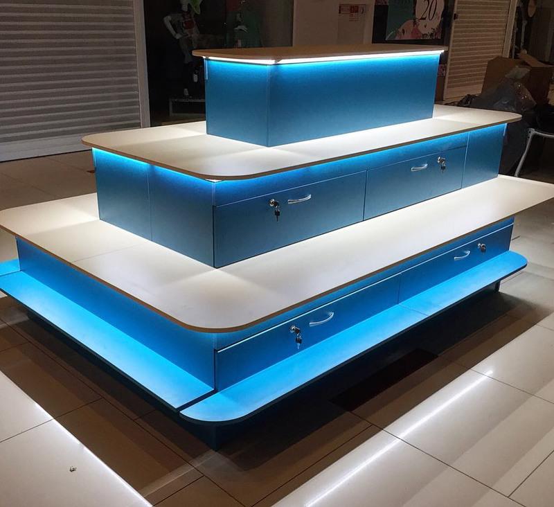 Торговая мебель-Торговый островок «Модель 259»-фото1
