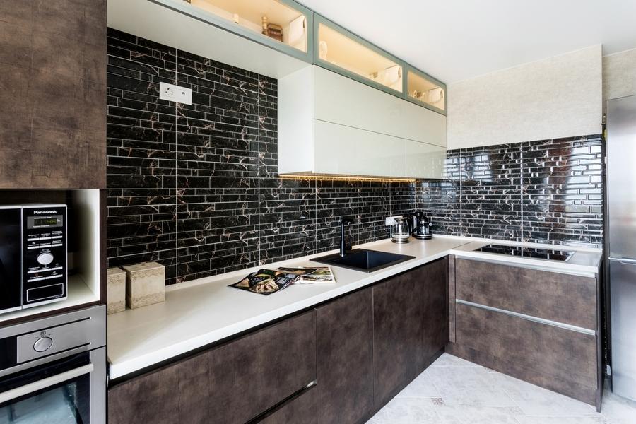 Акриловые кухни-Кухня из акрила «Модель 412»-фото2