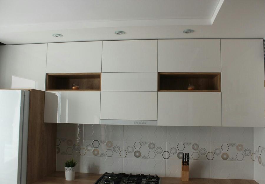 Белый кухонный гарнитур-Кухня из пластика «Модель 87»-фото6
