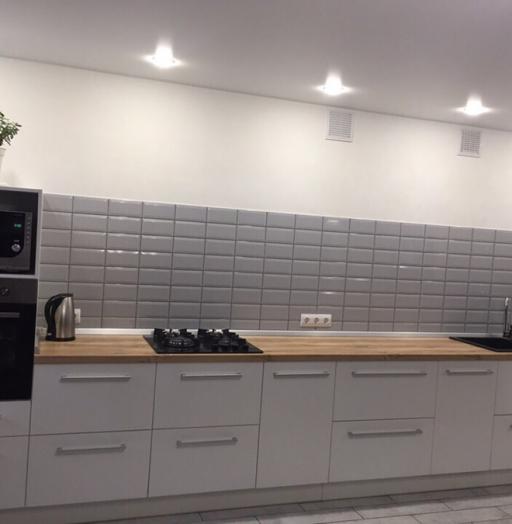 Белый кухонный гарнитур-Кухня из пластика «Модель 444»-фото2