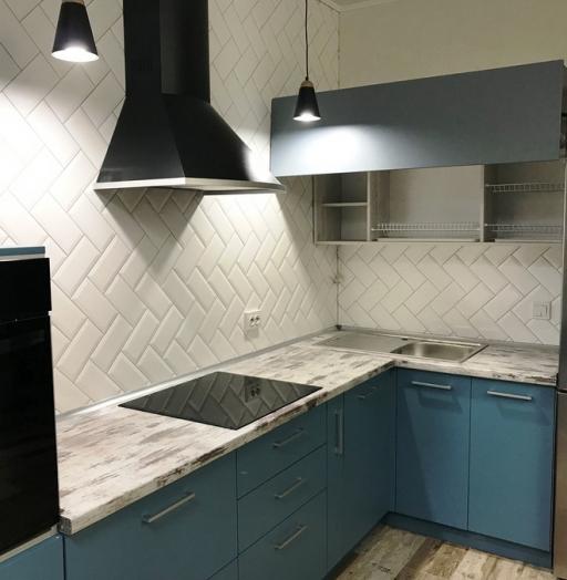 -Кухня из пластика «Модель 373»-фото19